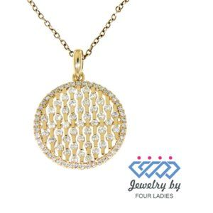 Natural Diamond Circle Pendant Jewelry